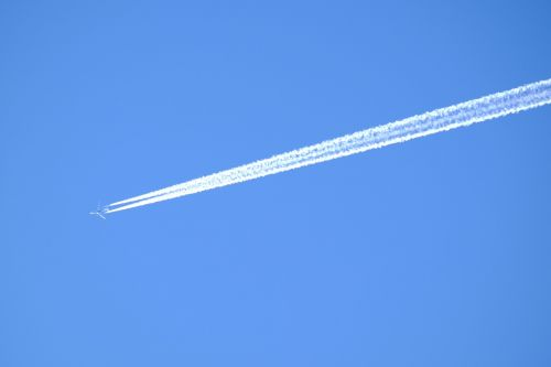aircraft sky contrail