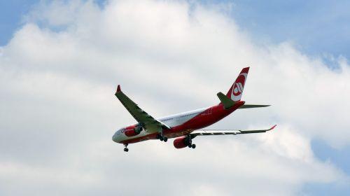 aircraft landing cloud