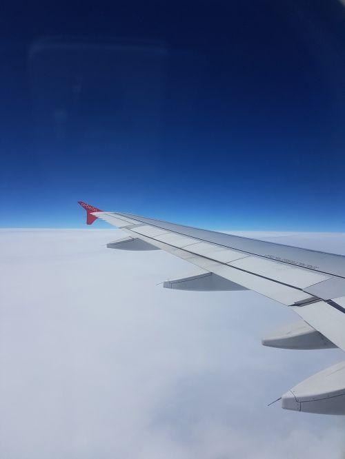 aircraft sky clouds