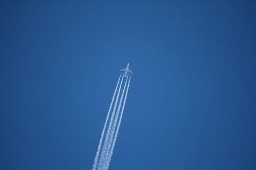 aircraft on a jet plane trace