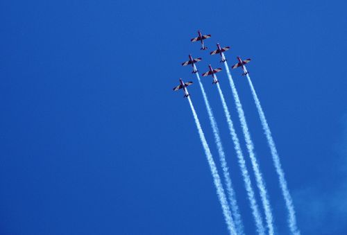 aircraft fly formation