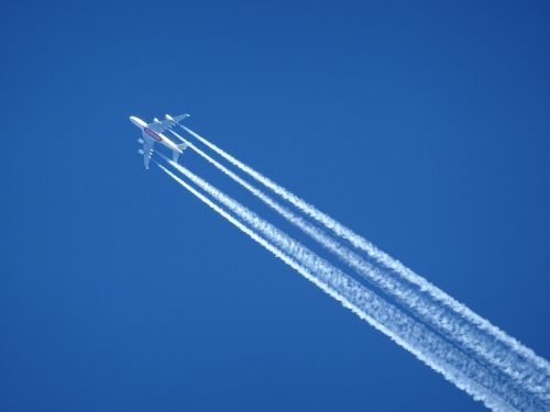 aircraft contrail sky