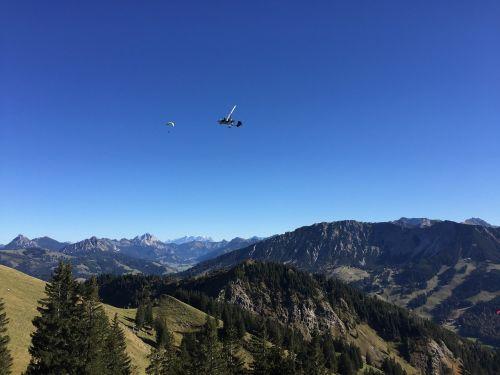 aircraft alpine mountains