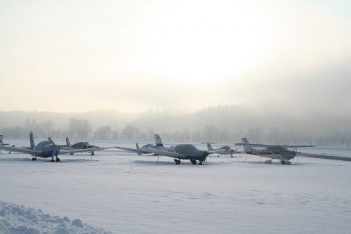 aircraft sport aircraft winter