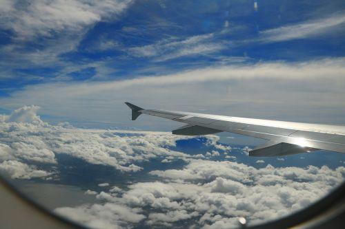 aircraft blue sky white cloud