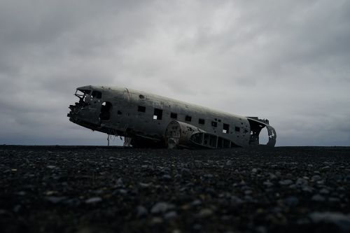 aircraft fuselage overcast