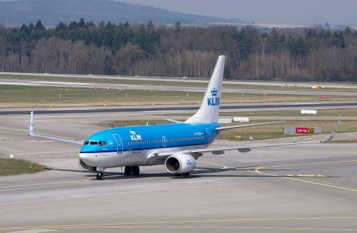 aircraft klm boeing 737