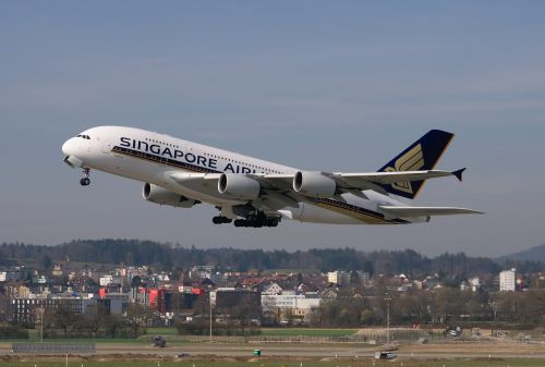 aircraft singapore airlines airbus a380