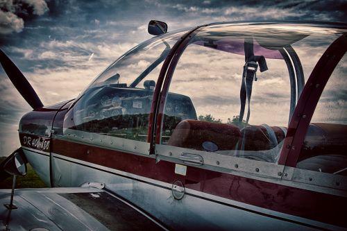 aircraft cockpit fly