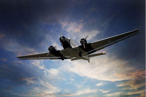 aircraft ju 52 sky