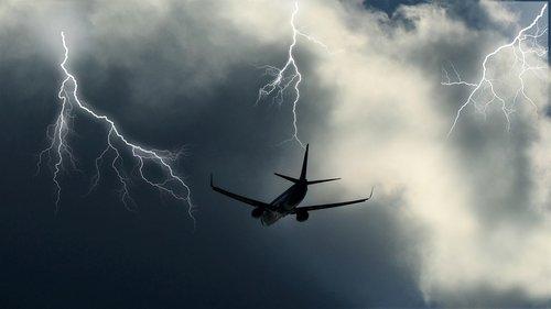 aircraft  clouds  sky