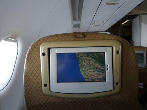 aircraft navigation monitor passenger guidance