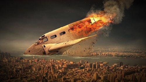 aircraft  sky  crash