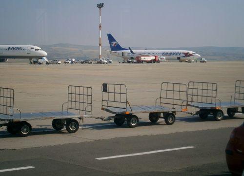 aircraft airport carts