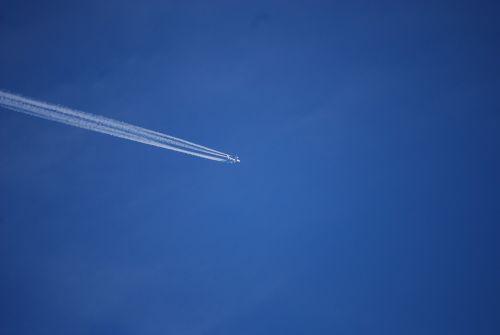 aircraft contrail sky