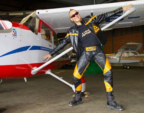 aircraft wing human