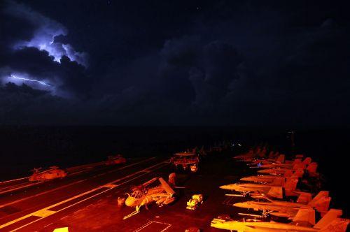 aircraft carrier navy deck