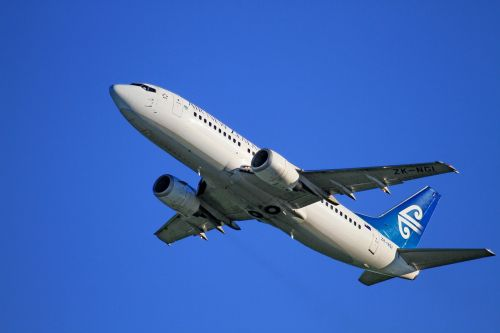 aircraft take-off air new zealand boeing 737-319