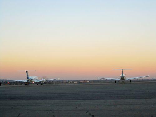 Airfield At Sundown