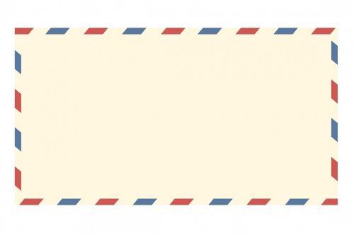 airmail envelope vintage letter