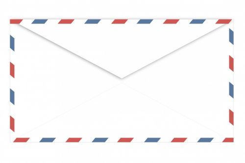 Airmail Envelope Back View