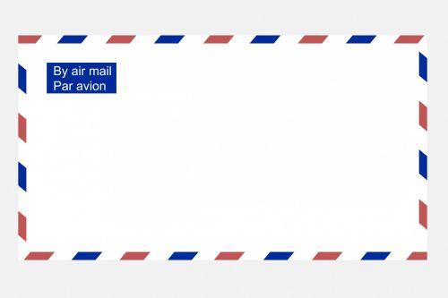 Airmail Envelope Clipart