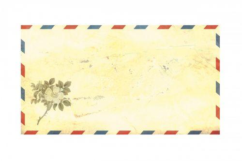 Airmail Envelope Flower Vintage