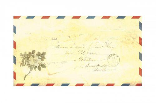 Airmail Envelope Vintage Script