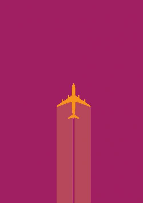 airplane jet yellow