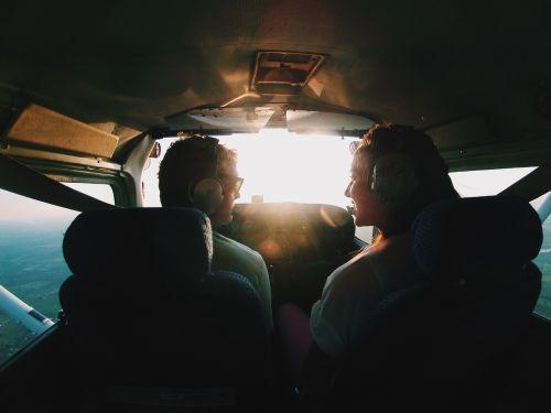 airplane cockpit pilot