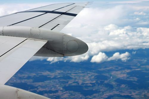 airplane plane wing