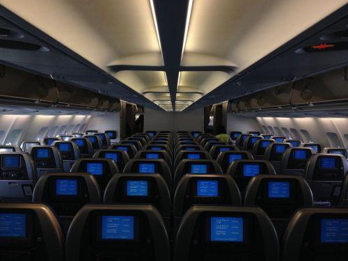 airplane cabin passenger