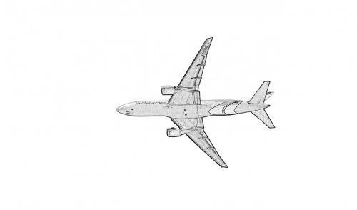 Airplane Clipart Illustration