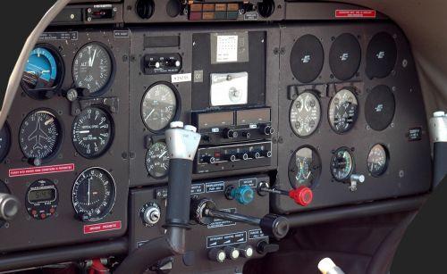 airplane cockpit aircraft instrument panel