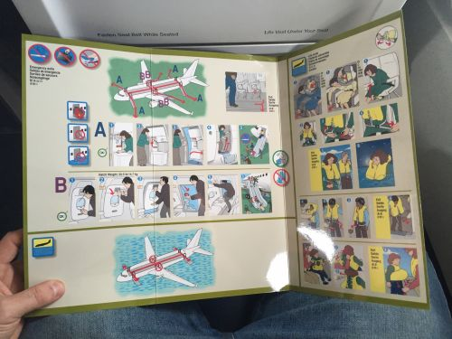 Airplane Emergency Instructions
