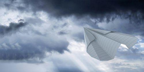 airplane paper freedom handmade