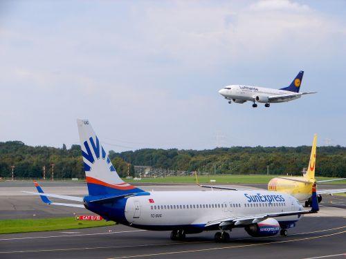 airport aircraft düsseldorf