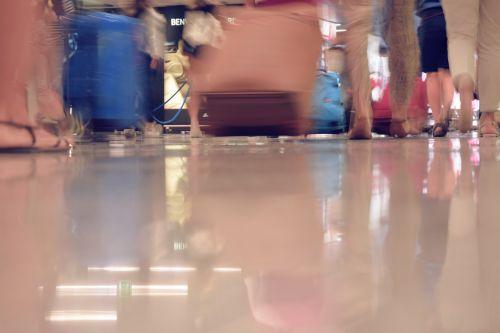airport trip suitcases