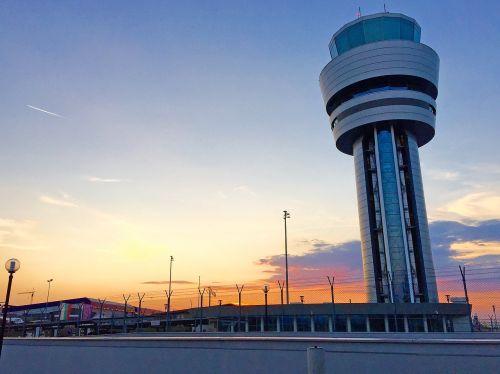 airport building sun