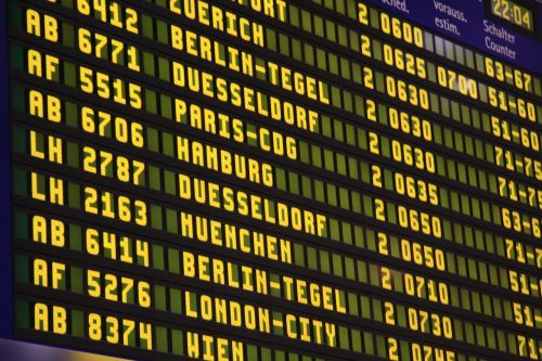 airport flights scoreboard