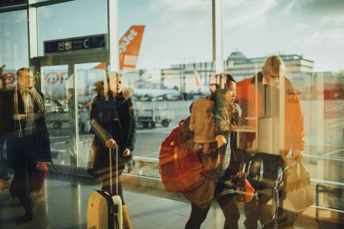 airport travelers persons