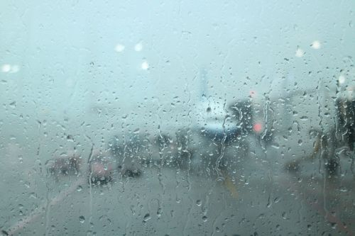 airport plane glass