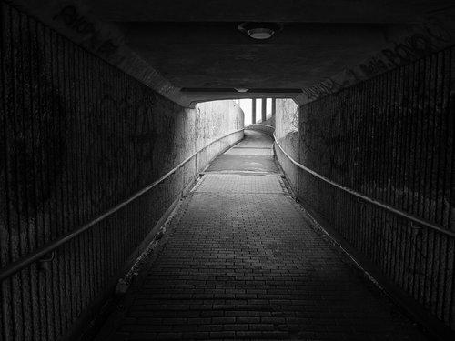 aisle  dark  road