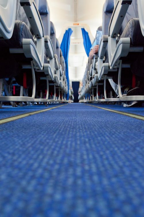 Aisle In A Plane