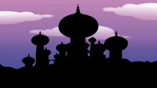 aladdin arab night temple