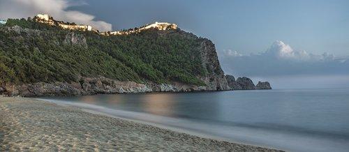 alanya  castle  beach