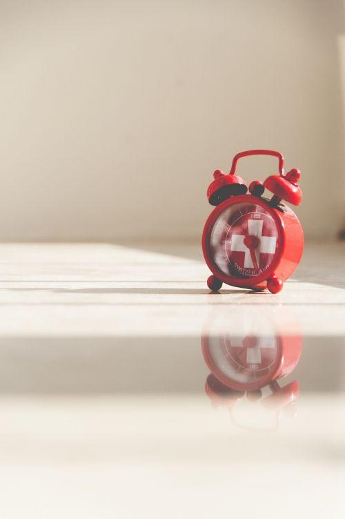 alarm clock red retro