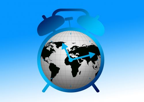 alarm clock globe earth