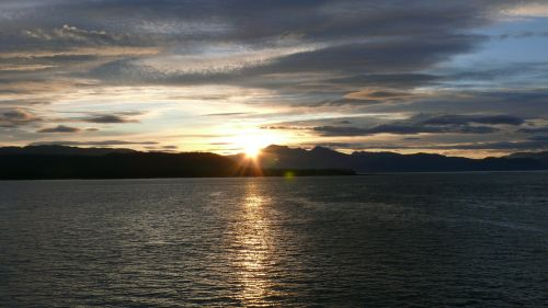 alaska usa sunset