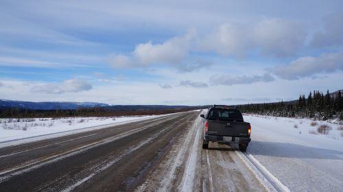 alaska highway british columbia snow